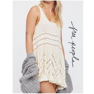 🎉HP🎉Free People Voile Lace Trapeze Slip Dress